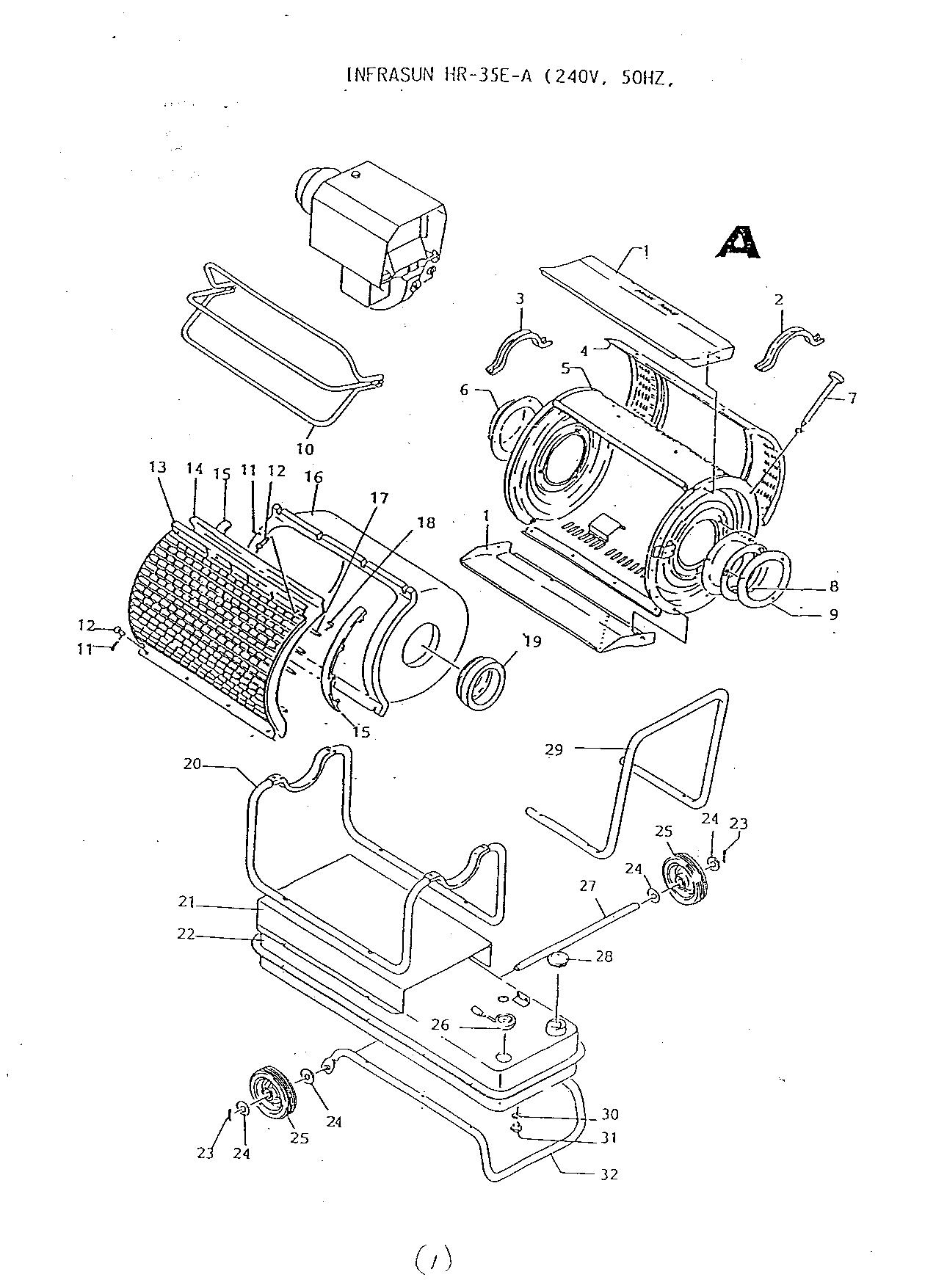 uk infrared heater an infrared heater for the uk orion infrasun hr 35e a parts diagram exploded view 001